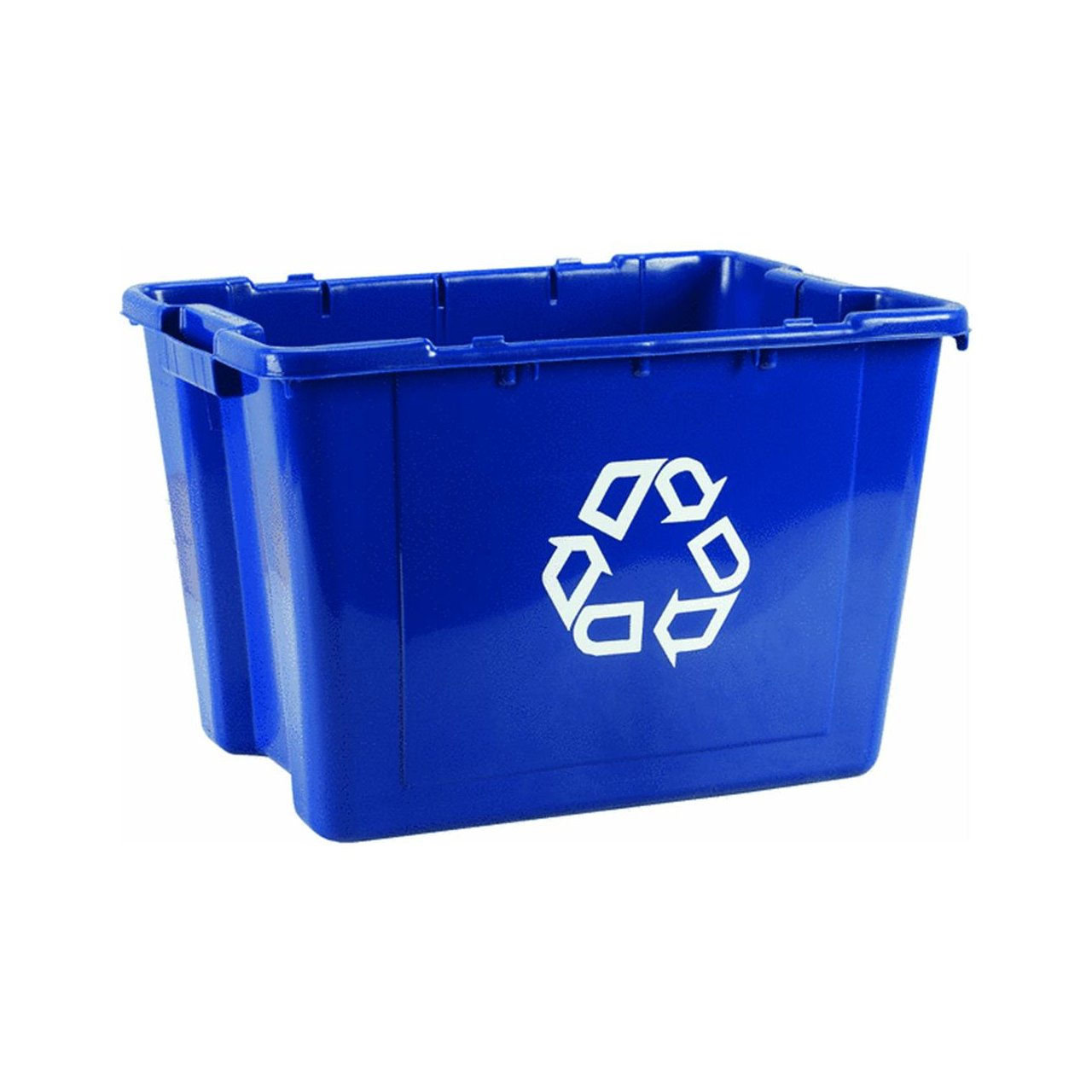 Rubbermaid(R) Computer Paper CollectionWe Recycle Container, 12 1/2 Gallons, 13 1/2-Inch H by 20-Inch W by 15-Inch D, Blue 5712-06BLUE