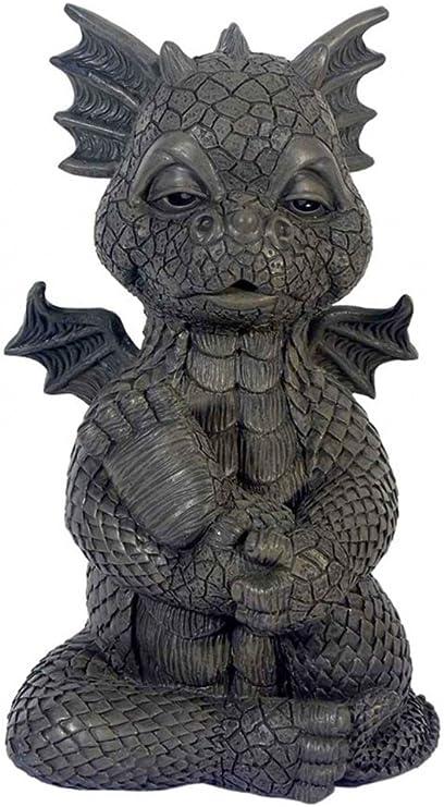 JARDIN - Dragon Yoga - MystiCalls - GD-292 - Dragon Deco Figure: Amazon.es: Jardín