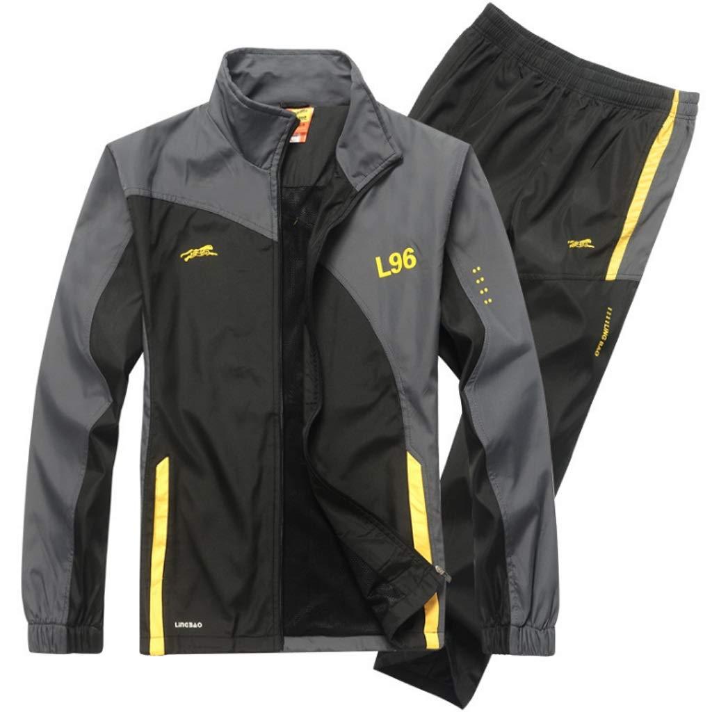 Lilongjiao Herren Sportbekleidung Anzug Herren Sport- und Freizeitanzüge Laufbekleidung Fitness Kleidung Lässige Sportbekleidung Anzug zweiteilig