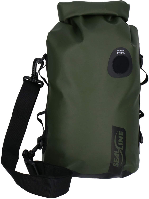SealLine Discovery Deck Waterproof Dry Bag with PurgeAir, Olive, 10-Liter