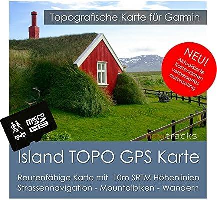 Island Garmin tarjeta Topo 4 GB MicroSD. Mapa Topográfico de GPS Tiempo Libre para Bicicleta Senderismo Excursiones Senderismo Geocaching y Exterior. Dispositivos de Navegación, PC & Mac: Amazon.es: Software