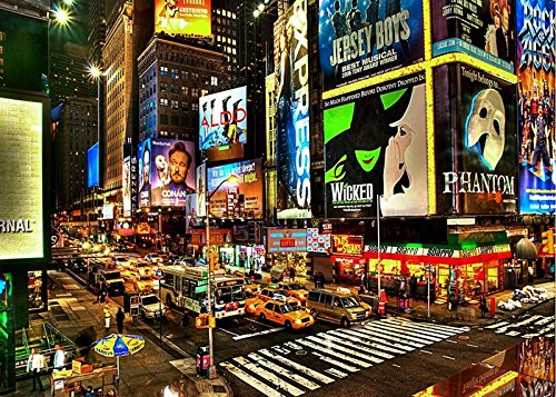 7x5ft New York City Times Square Background High-grade portrait cloth Computer printed scenic backdrops J00842