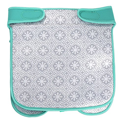 Baby Stroller Caddy Storage Organizer - Cup, Bottle and Diaper Holder for Stroller Accessories Bag - Universal Umbrella Stroller Organizer with Cup Holders - Perfect Baby Shower Gift (Turquoise) by Sunshine Nooks (Image #8)