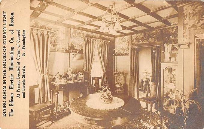 Boston Massachusetts Edison Light House Dining Room Real Photo Postcard J76804