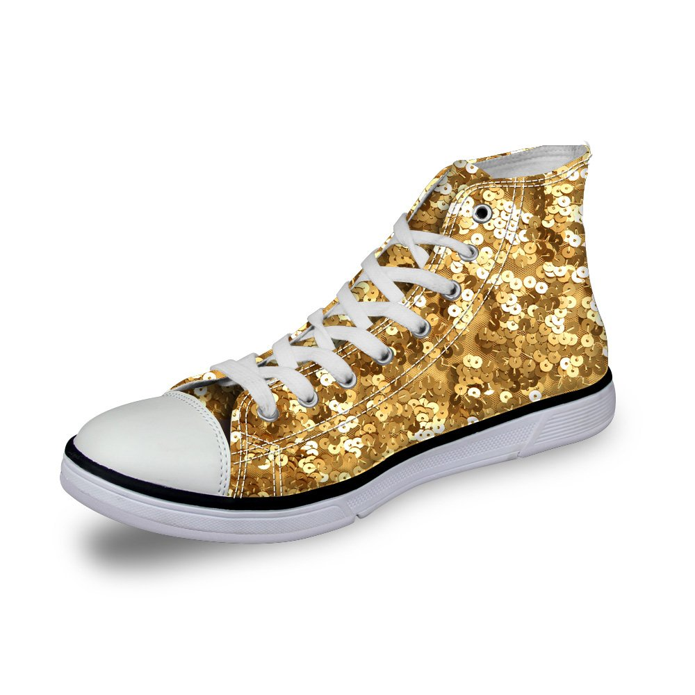 Santiro Funny Pattern Fashion Womens Fashion Galaxy High Top Casual Canvas Lightweight Walking Floral Printed Shoes