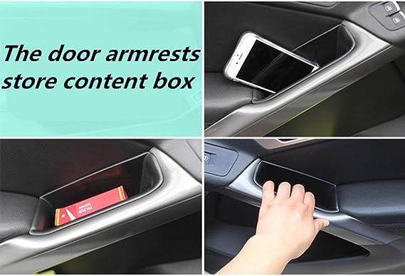 Lfotpp Kompatibel Mit Tiguan 1 5n Auto Vorderseite Türgriff Armlehne Aufbewahrungsbox Container 4 Stück Auto