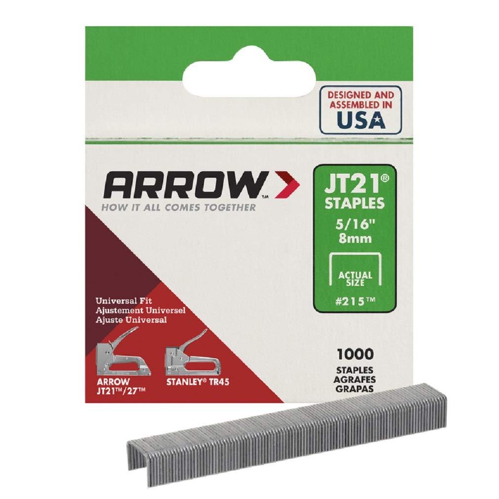 Arrow 215 5/16-Inch Genuine T50 Staples, 1,000-Pack