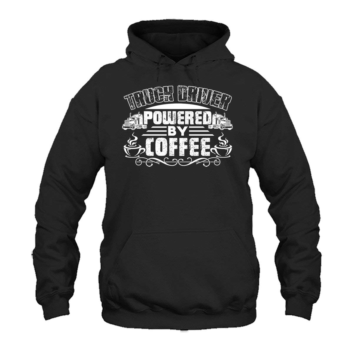 Two Camel Truck Driver Powered by Coffee Shirt Clothing Tee Shirt