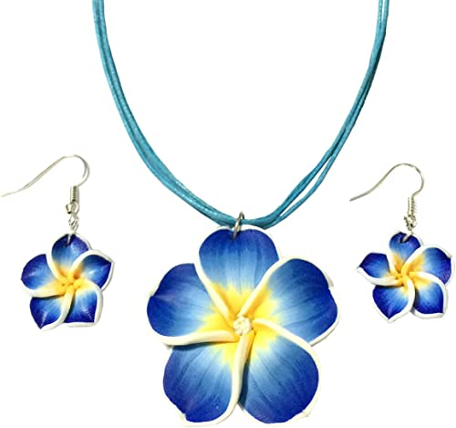 Amazon Com Betterweather Hawaiian Plumeria Flower Necklace And