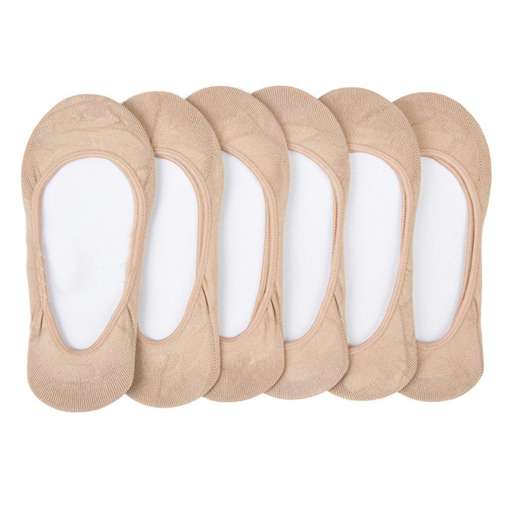 MANZI Women's 6 Pairs No Show Socks Low Cut Casual Liner Socks Non Slip Invisible Socks