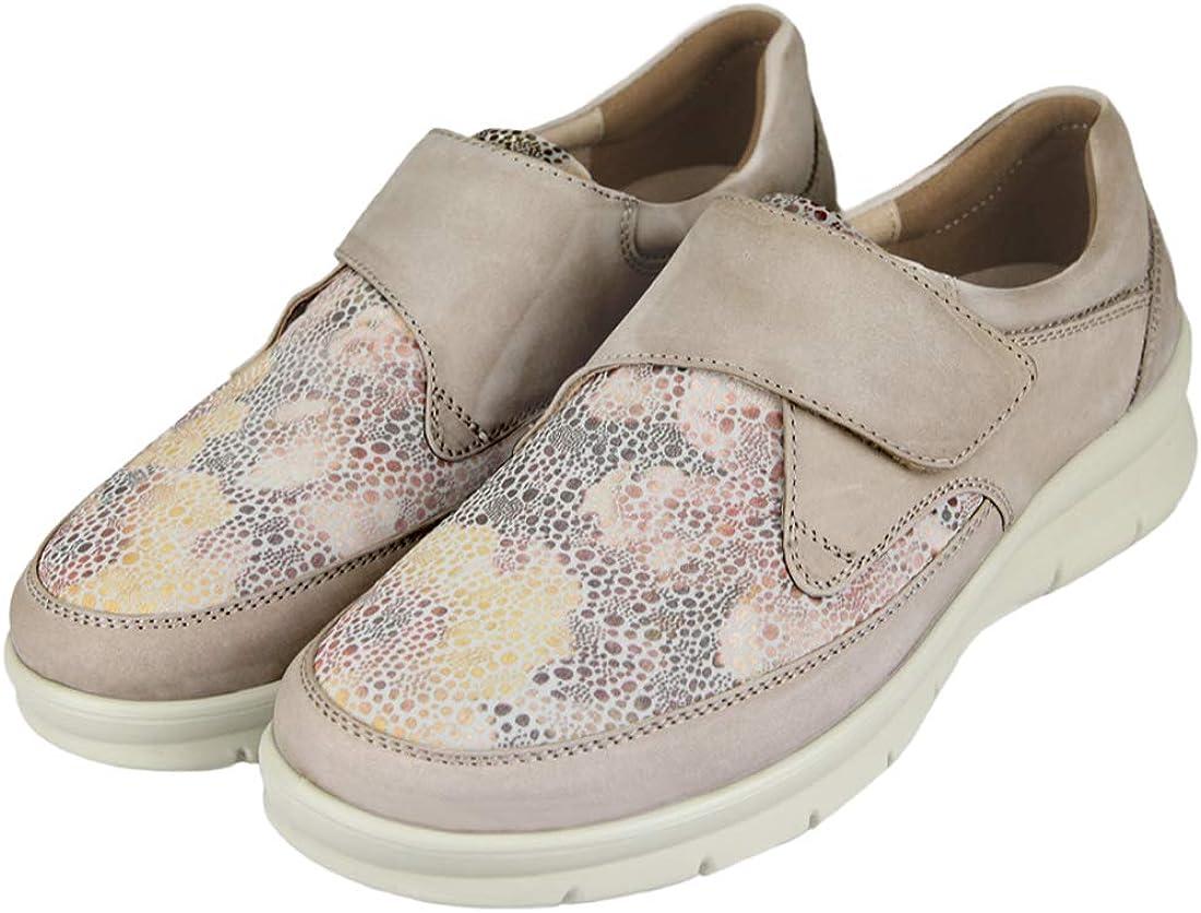 CARI FALCÓ Zapato Mujer Ancho Especial. con Plantillas
