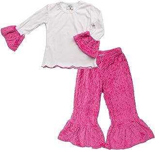 product image for Cheeky Banana Baby/Toddler Girls Minky Dot Ruffle Tee & Pants - 10 Colors