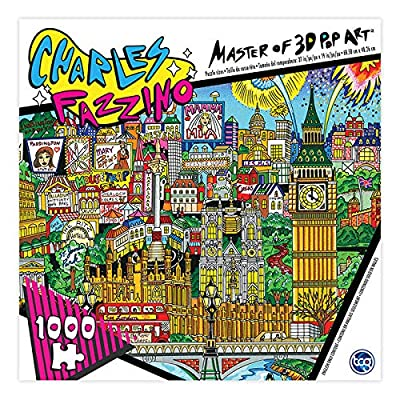 Charles Fazzino Master of 3D Pop Art 1000 Piece Puzzle The Lights of London: Toys & Games