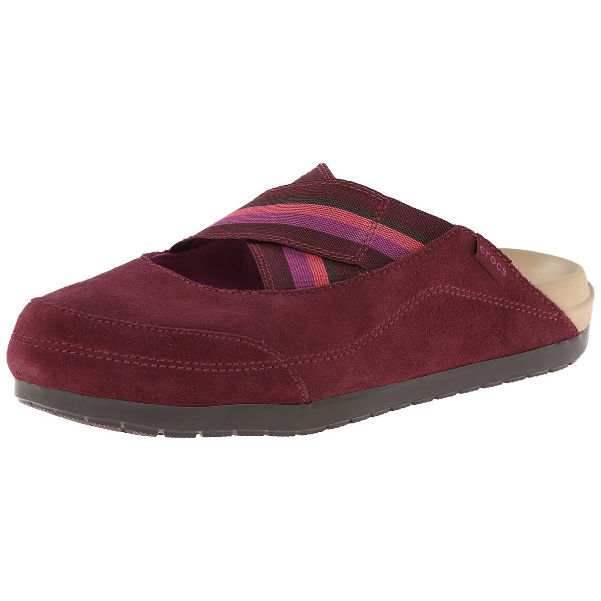 e97425afc8ad2 Crocs Women s Edie Suede Croslite Mule Burgundy Viola 6 B(M) US  Buy Online  at Low Prices in India - Amazon.in