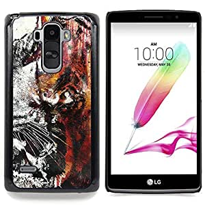 "Qstar Arte & diseño plástico duro Fundas Cover Cubre Hard Case Cover para LG G4 Stylus H540 (Tiger Graffiti"")"