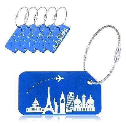 c222aa5dfc3f Amazon.com: Aolvo Cruise Luggage Tags, Luggage Name Tag Holder ...