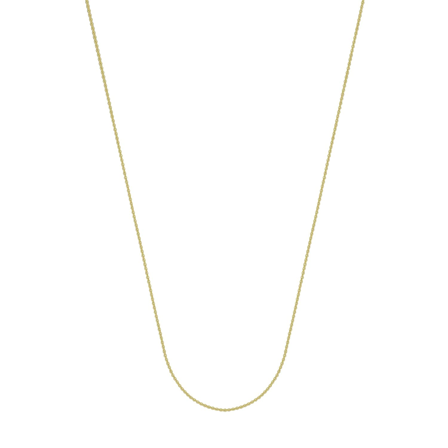 24 inch 20 inch 14K Yellow Gold 1.05 Cable Chain in 16 inch 18 inch