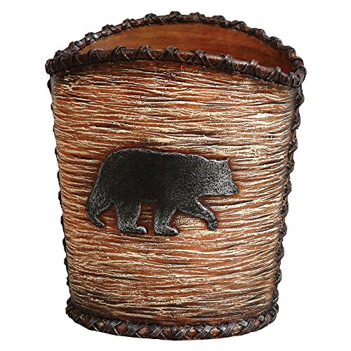 Black Bear Hideaway Waste Basket