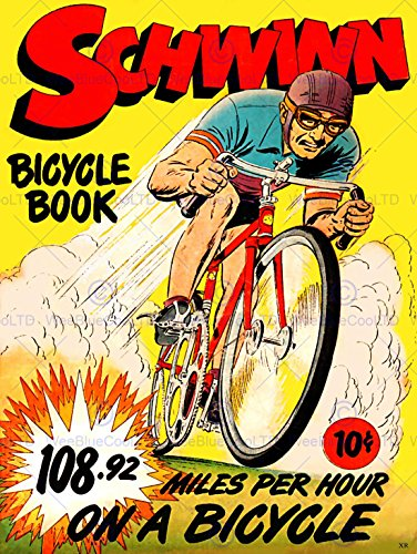COMICS SCHWINN BICYCLE BOOK SPEED RECORD BIKE RACE USA AR...
