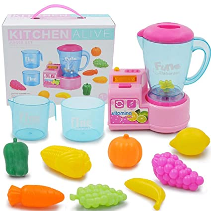 Softwind Kids Kitchen Toy Set Children Kitchen Accessories Role-Playing Kitchen Electric Play House for