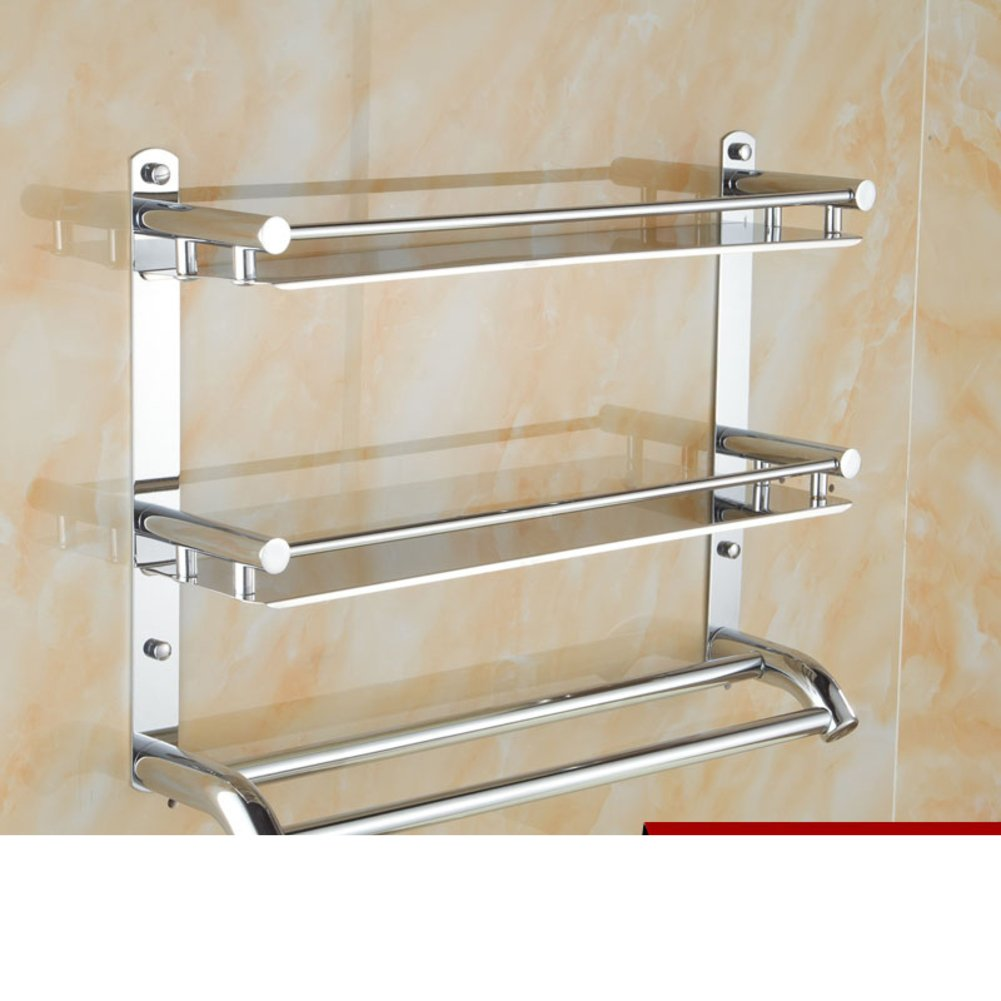 70%OFF Stainless steel bathroom shelf /towel rack/Bathroom double ...