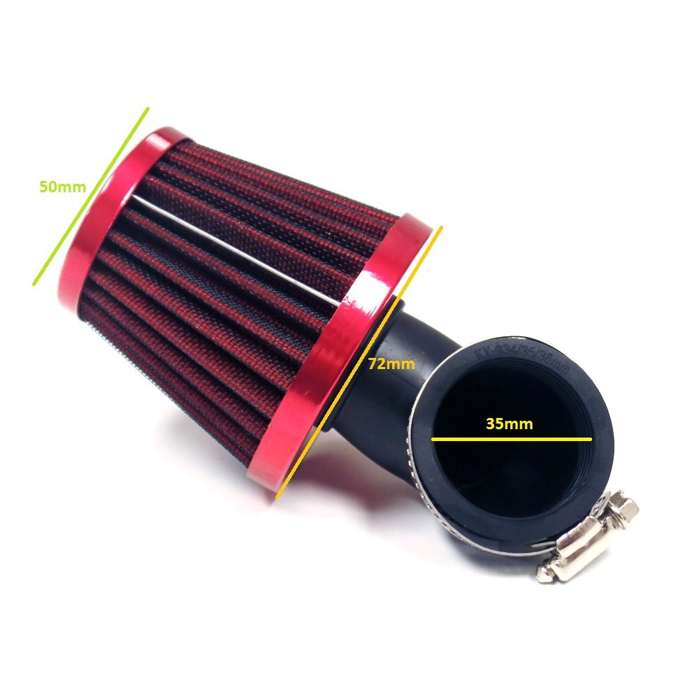 35mm Air Filter 50cc 2 Stroke 90 degree angled Scooter Motorcycle ATV Pocket Bike