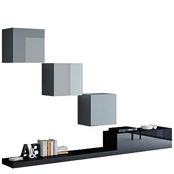 Modernes Wohnwand Pixel VI, Wohnzimmer Set, Anbauwand ...
