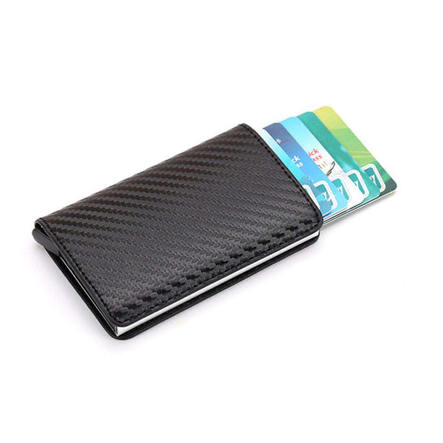 Clearance 2019 New Aluminum Wallet Credit Card Holder Metal with RFID Blocking Slim Carbon Fiber Card ID Wallet