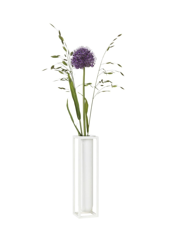 By Lassen- Kubus - Vase Blumenvase - Flora - Weiß - Søren Lassen