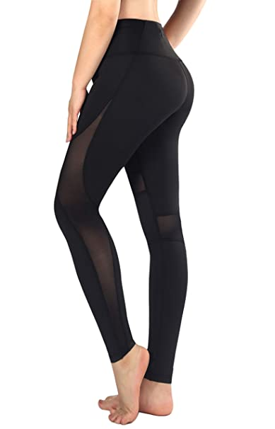 Amazon.com: Sugar Pocket Womens Yoga Pants Slice Mesh with ...