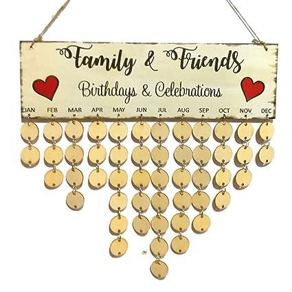 Amazon Com Ylevv Family Celebration Calendar Birthday Valentine S