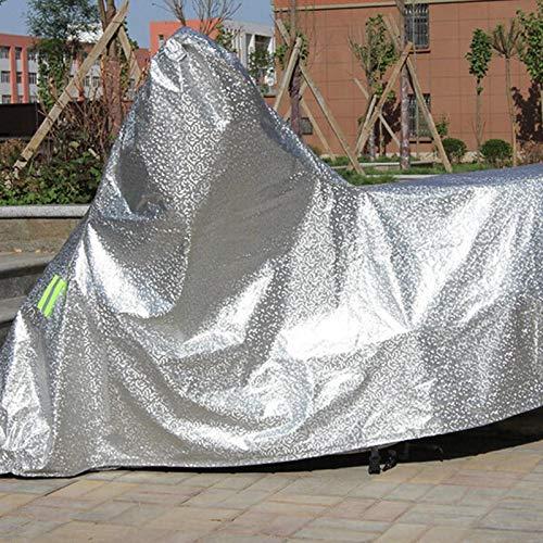 /Étanche la Poussi/ère Oyfel B/âche de Moto Bicyclette V/élo Film daluminium Housse Protection Gris Contre Le Soleil la Neige