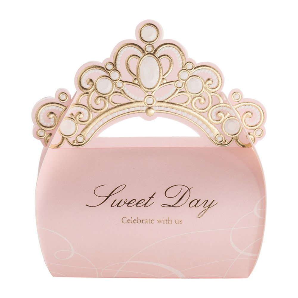 Amazon.com: Into 50 Pcs Shiny Glitter Crown Sweet Day Wedding Party ...