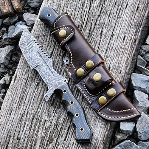 Buck n Bear BNB1228TT Damascus Tanto Tracker G10 Black