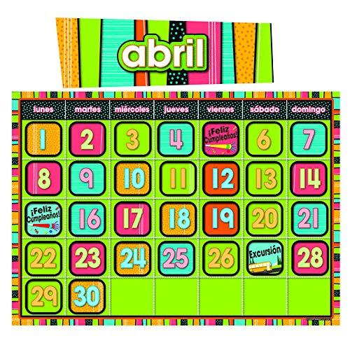 CARSON DELLOSA STYLIN STRIPES SPANISH CALENDAR (Set of 6)