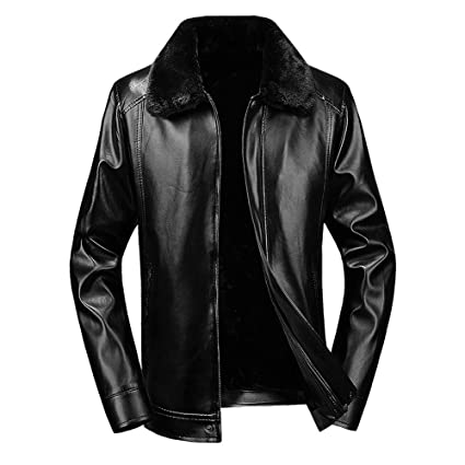 8b077fadf0f Image Unavailable. Image not available for. Color  Clearance Sale ! Men Leather  Coat