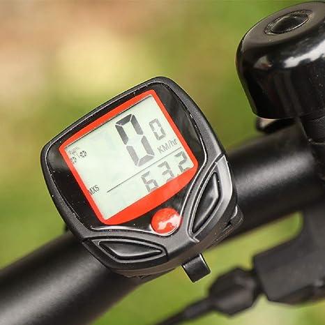 Ninguna velocímetro de bicicleta y cuentakilómetros, impermeable ...