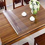 OstepDecor Custom 1.5mm Thick Frosted PVC Table Cover Protector Desk Pads Multi-Size | Rectangular 39.5 x 80 Inches (100 x 203cm)