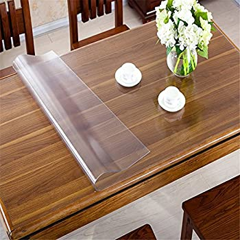 OstepDecor Custom 1.5mm Thick Frosted PVC Table Cover Protector Desk Pads Multi-Size | Rectangular 23.6 x 48 Inches (60 x 122cm)