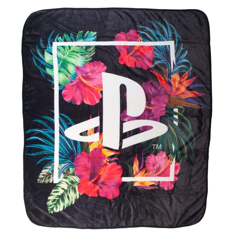 Bioworld Playstation Logo Digital Print Throw Blanket
