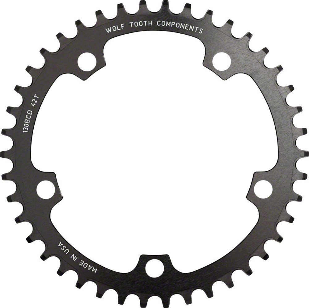 Wolf Tooth Components drop-stop Chainring : 52t X 110 BCD、ブラック B07BVPTLLP