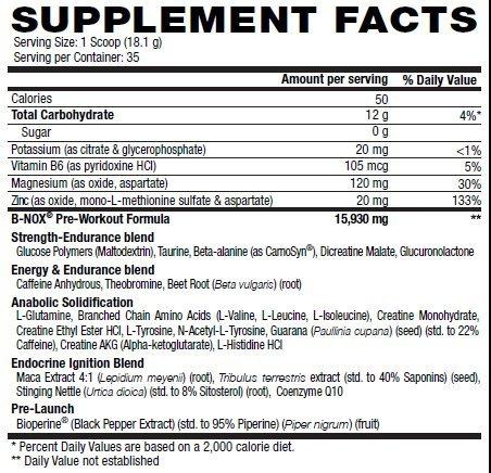 Betancourt Nutrition B Nox Pre Workout Drink Mix, Watermelon 35 servings 22.3oz (1.3lb.)