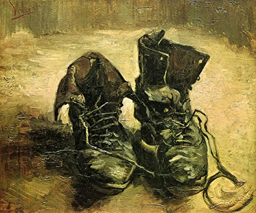 (Gifts Delight Laminated 17x14 Poster: A Pair of Shoes - Vincent Van Gogh)