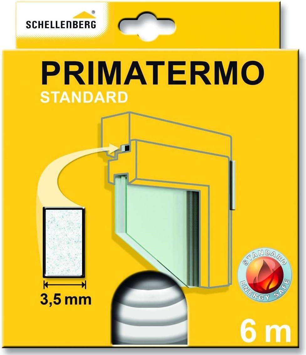 Schellenberg 66320 Dichtung Primatermo Plus Vollprofil 9 X 6 Mm 6 M Türdichtung Fensterdichtung Baumarkt