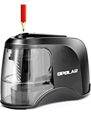 Electric Pencil Sharpener, Heavy-Duty Helical Blade to Fast Sharpen, for 6-8mm Diameter Pencils, USB or Battery Operated in School Classroom/Office/Home (USB and AC Adapter Included)