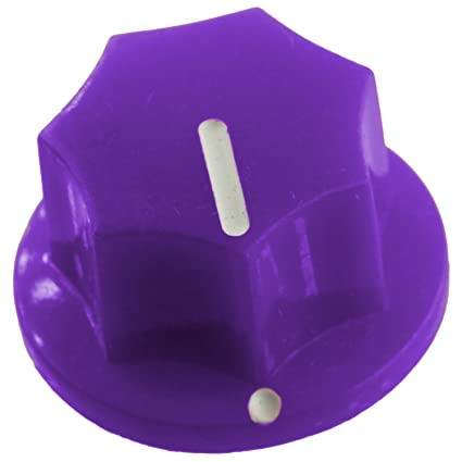 /& DIY Purple for Pedals Small Fluted Knob with White Indicator Guitars