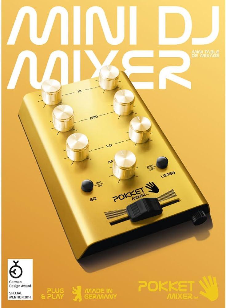 Der Mini-DJ-Mixer Pokketmixer F/ür Coole Partys Überall Mit Handy Smartphone MP3-Player Tablet Gold - M/änner Geschenk Ohne Strom