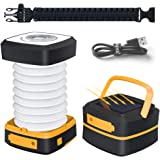Quntis Solar Powered LED Camping Lantern, Solar or USB Chargeable,Collapsible &Waterproof Flashlight Mini Torch Night Light for Outdoor Hiking Tent Garden Patio Emergencies (Incl. Outdoor Bracelet)