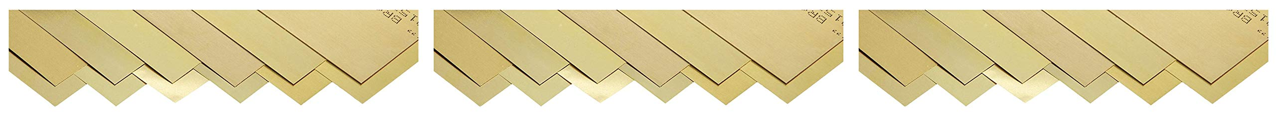 Small Parts 260 Brass Sheet, Unpolished (Mill) Finish, Half Hard Temper, 0.001-0.015'' Thickness, 6'' Width, 12'' Length (Pack of 12) (Тhree Pаck) by Small Parts