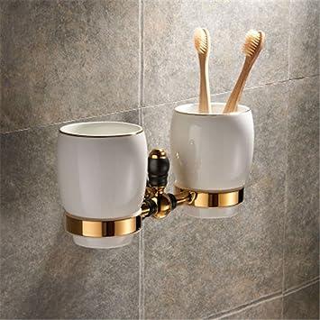 Euro-Cobre Oro Viejo Negro baño Toallas de baño Toalla Estante Hardware de Montaje en Bastidor se empaqueta, el Cepillo Copa 2: Amazon.es: Hogar